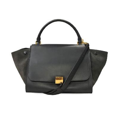 trapeze tote bag black